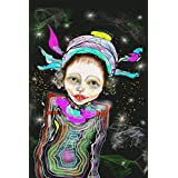 Kunst, Poster, Spacegirl, 45 x 30 cm, bunt, Bild
