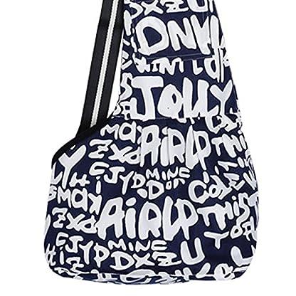 Oxford Pet Dog Cat Outside Travel Strap Sling Single Shoulder Bag Carrier Holder - Blue White S 2