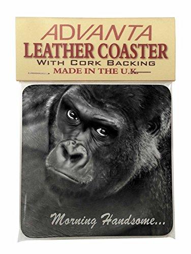 Gorilla mit 'Morning Handsome '... Single Coaster Weihnachtsstrumpf-Füller Gesch (Mh Single)