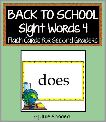 Back to School Sight Words 4 - Flash Cards for Second Graders (Back to School Sight Words for New Readers) (English Edition)