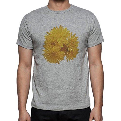 Flowers Nature Blossom Plant Blossoms Yellow Herren T-Shirt Grau