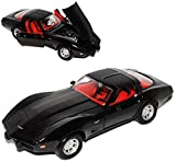 Motormax Chevrolet Chevy Corvette C3 Coupe Schwarz 1979 Stingray 1967-1982 1/24 Modell Auto