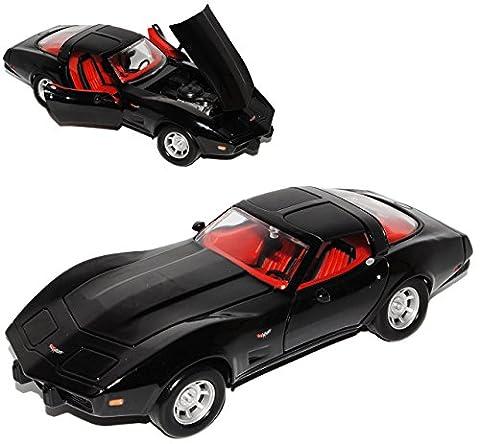 Chevrolet Chevy Corvette C3 Coupe Schwarz 1979 Stingray 1967-1982 1/24 Motormax Modell Auto (1980 Chevrolet)