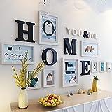 #10: WollWoll Home Word Penguin Design Large Wood Photo Frame Set (155 cm x 2 cm x 83 cm, White)