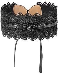 HBselect Cintura Donna di Pizzo Fusciacca Donna Elegante e Regolabile Taglia Unica Accessori Donna