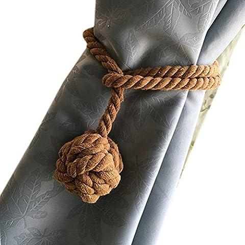 Embrasse Anneaux Pompon - PIXNOR Rideau Tie coton cravate corde ,