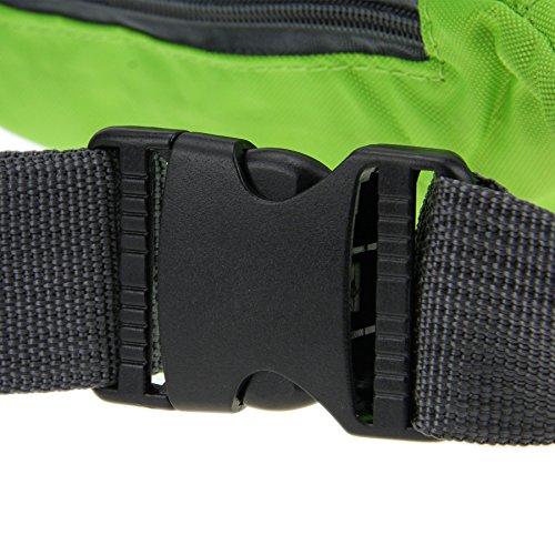 BXT Outdoor Fashion Unisex Leichte 3 Taschen Multicolor Reisen Hüfttaschen Gr¨¹n