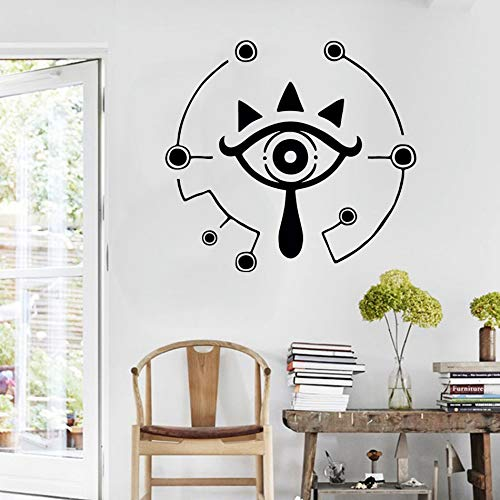 WWYJN Eye Wall Stickers Children Room Symbol Wall Decals Home Decoration Game Poster Home Bedroom Decoration red 57x62cm