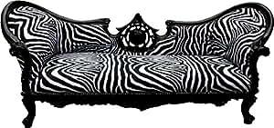 Casa Padrino baroque Canapé Vampire Zebra/Noir–Meubles