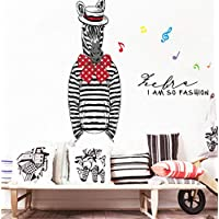 Fashion Mr. Zebra Large Wall Stickers Home Decor Living Room DIY Art Decal Wallpaper Removable Sticker