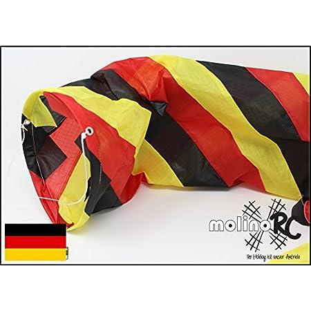 molinoRC Wunderschöner Deutschland Windsack | BRD / D in leuchtenden Farben | Durchmesser 15cm | Länge 130cm | Windspiel…