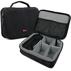 DURAGADGET Sacoche modulable pour Enceintes Philips BT50, Anker Soundcore Boost and Zenbre F3 Enceinte Portable+ Accessoires - Noir/Gris