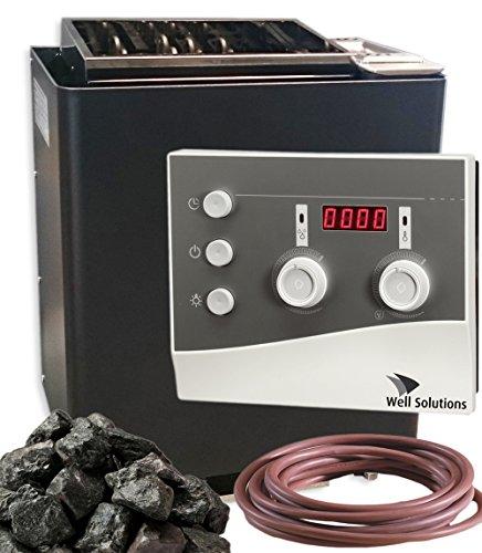 Eos Bi-O Mat Sauna Ofen 9kW mit Steuerung K3 WellSolutions®, Steine