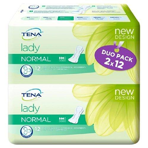 Tena Lady Handtücher Duo Normal 2 x 12 pro Packung -
