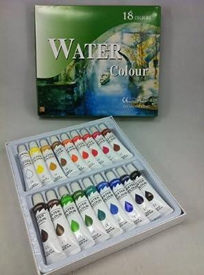 18er Aquarellfarbenset 12ml von malgut24 bei TapetenShop