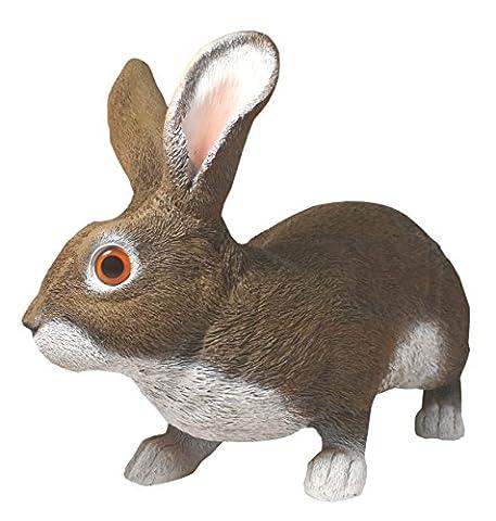Dekofigur Feldhase Hase Rammler Rolf Kaninchen lebensecht Osterhase Dekoration Garten (2.0t Katze)
