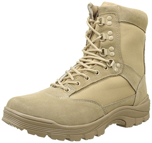 Mil-Tec Tactical Side Zip Stivali Khaki Taglia 9 UK / 10 US