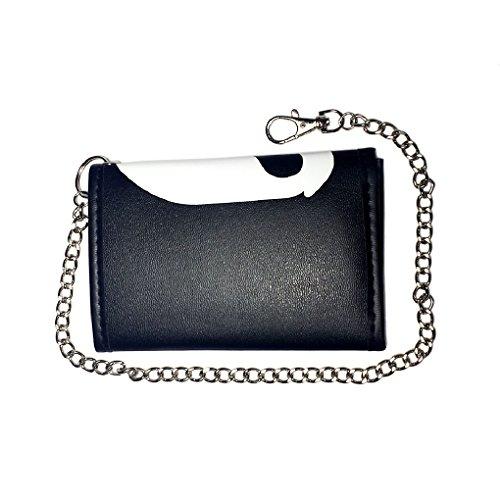 Portafoglio con catena in caso di colori e motivi, 141 (Nero) - 22410 681