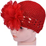 Yoyorule Flower Toddlers Infant Baby Girl Lace Hair Band Headband Headwear Hat (Red)