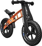 FirstBIKE Fat Edition - Bicicleta sin Pedales con Freno de Mano, Color Naranja