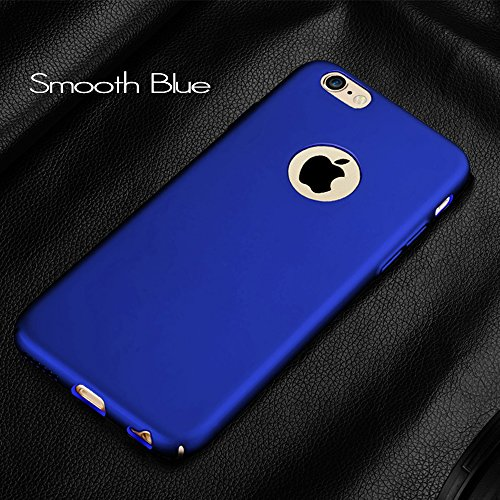 Anccer iPhone 6S Coque [Serie Mat] Resilient Conception Ultra mince et absorption des chocs pour iPhone 6 Gravel Black Smooth Blue