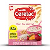 Nestle Cerelac Fortified Baby Cereal with Milk, Wheat-Rice Mixed Fruit – From 10 Months, 300g Pack