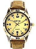 Spyn Analogue Gold Dial Men's Watch-SL00...