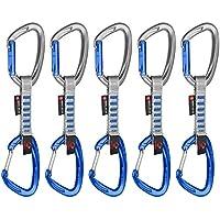 Mammut 5Er PK Crag Ind Wire Xpr Set Cintas de Escalada, Unisex Adulto, Plateado, 10 cm