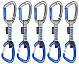 Mammut 5er Pack Crag Indicator Wire Express Sets Karabiner, Straight Gate Gateilver/Phantom, 10 cm