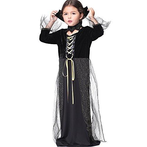 Uleade Kinder Mädchen Hexe Halloween Kostüm Kind Hexe Dress Up & Rolle spielen