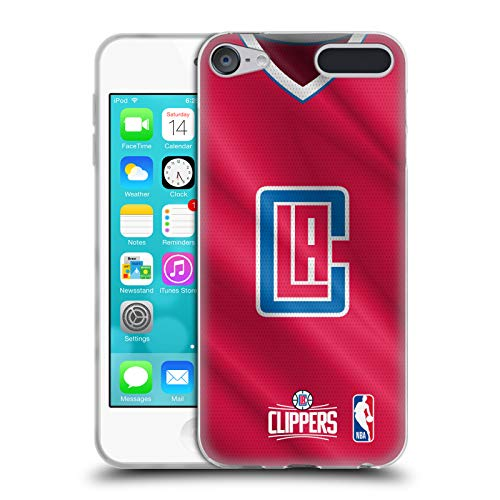 Head Case Designs Offizielle NBA Jersey Strasse 2018/19 Los Angeles Clippers Soft Gel Hülle für Apple iPod Touch 6G 6th Gen
