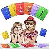 Pueri Montessori Tableros de Aprendizaje Juguete de Enseñar vestir Preescolar 6 Piezas en 1 de Snap Hebilla Botón Encaje Cremallera y Corbata