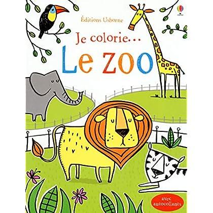 Je colorie... le zoo - avec autocollants