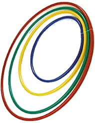 WORKOUT EXERCISE & FITNESS PLASTIC HOOP RING KIDS GYM PE PLAY HULA HOOP ASSORTED