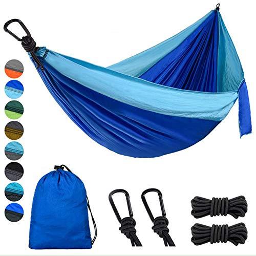 Lifeleads Outdoor Camping Hängematte, Sky Blue & Dark Blue, Single (600 Lb Hängematte)