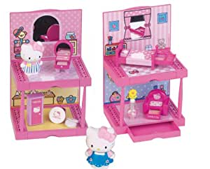 Hello kitty 6408 poup e et mini poup e maison maquillage 1 figurine makeup salon chambre - Maison de poupee hello kitty ...