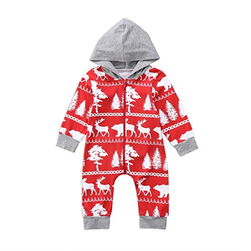 (Fygrend - Christmas Baby Boys Girls Hooded Romper Jumpsuit Hoodie Clothes Outfits [ 24M ])