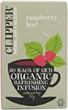 Clipper Organic Raspberry Leaf Infusion 20 Teabags (Pack of 6, Total 120 Teabags)