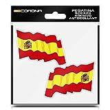 BC Corona ADH06590 Pegatina Bandera España, 2 UDS, Set de 2