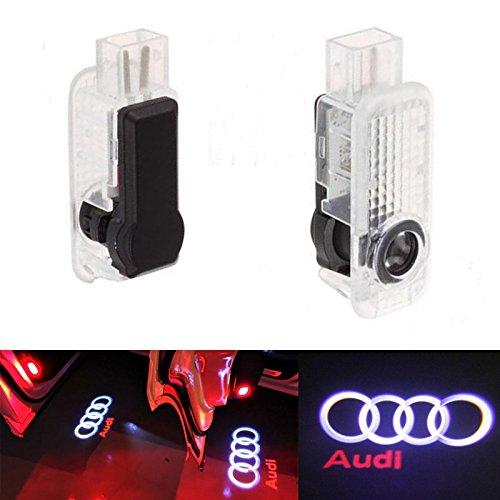 Preisvergleich Produktbild ALBRIGHT 2 X Auto Türbeleuchtung Tür Licht Door Shadow Logo 3D Laser Licht Projector Willkommen Licht
