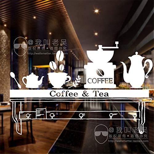 r Wandtattoo Schlafzimmer Milch Tee Coffee Shop Cafés Eis Brot Kuchen Küche Wandkunst Aufkleber Wandbild Dekor für Café Coffee Shop ()