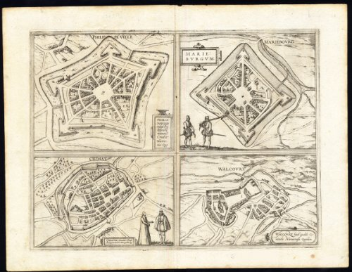 theprintscollector-antico-print-philippeville-marienbourg-chimay-walcourt-belgium-hogenberg-1575