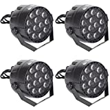 4x ETEC Mini LED PAR 36 Scheinwerfer 12x3 Watt RGBW Set