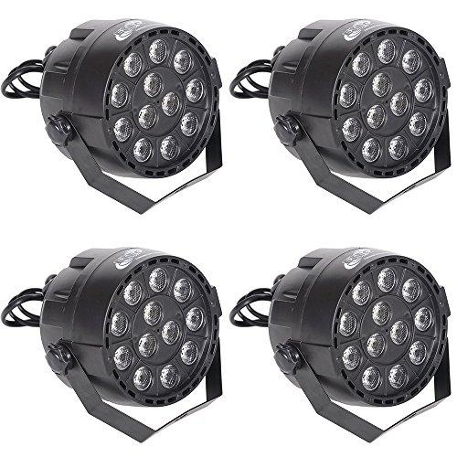 4x ETEC Mini LED PAR 36 Scheinwerfer 12x3 Watt RGBW Set 3 Scheinwerfer-scheinwerfer