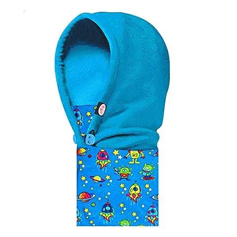ANGTUO Casque de ski pour enfants Anti-poussière Anti-poussière Nouveau chapeau masqué Conserver un protège-doux protégé Face, oreille et cou