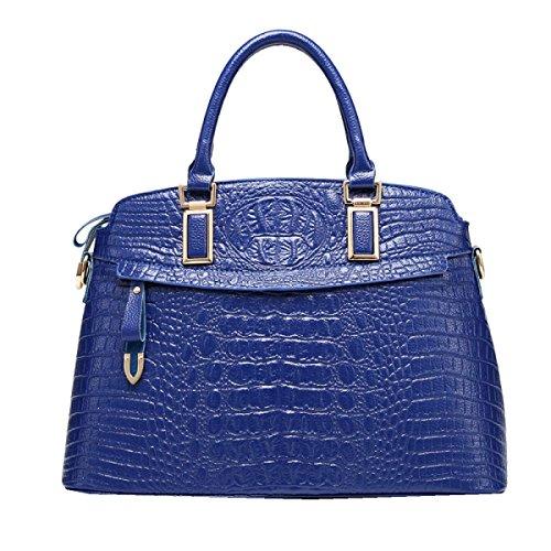 Yy.f Nuove Borse Borse In Pelle Di Coccodrillo Modello Una Varietà Di Colori Elegante Esterno Pratico Interno. Multicolore Blue