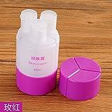 XIAMUO necesidades diarias de Viajes Viajes cosméticos sub-portátil de embotellado 3-una botella de champú lavabo botellas vacías y 109,6 en rojo