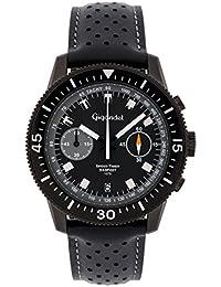 Gigandet g7 – 007 – Herrenarmbanduhr, Lederband, schwarz
