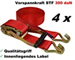 4 x Spanngurt Zurrgurte 8m 5t ( 2500...