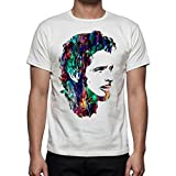 Palalula Hombre Camiseta Soundgarden Audioslave Chris Cornell Tributo T-Shirt S White